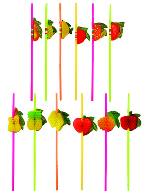 Fruit Plastic Straw