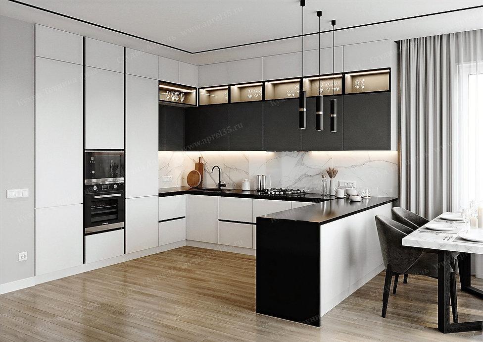 Белая кухня с белым профилем Gola _1.jpg