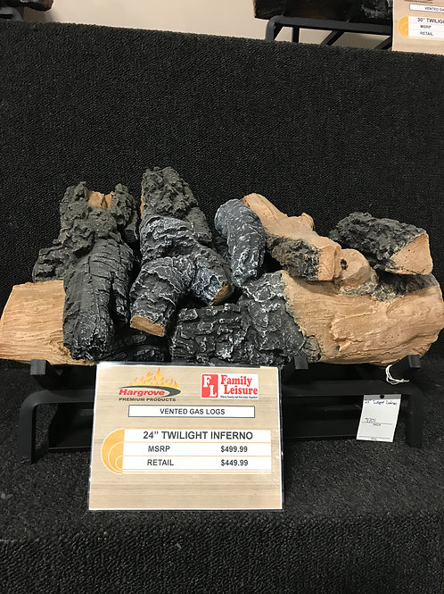 """24"""" Twilight Inferno Vented Gas Logs"""