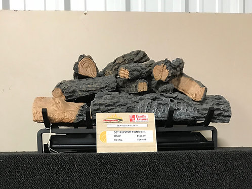 """30"""" Rustic Timbers Vented Gas Logs"""