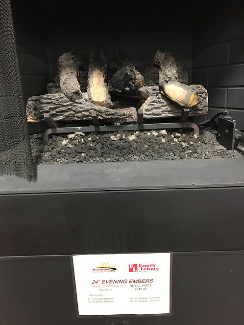 """24"""" Evening Embers Vented Gas Logs"""