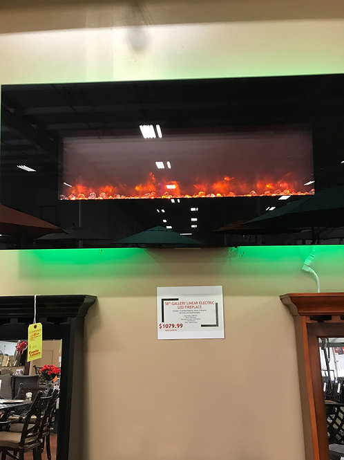 "58"" Gallery Linear Electric LED Fireplace"