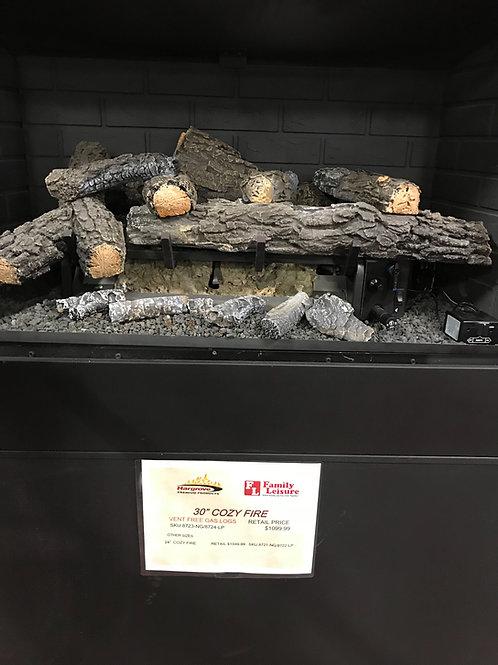 "30"" Cozy Fire Vent Free Gas Logs"