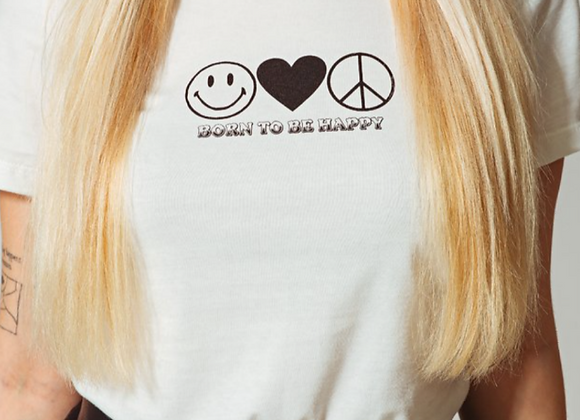 T-SHIRT BABYLOOK BORN TO BE HAPPY