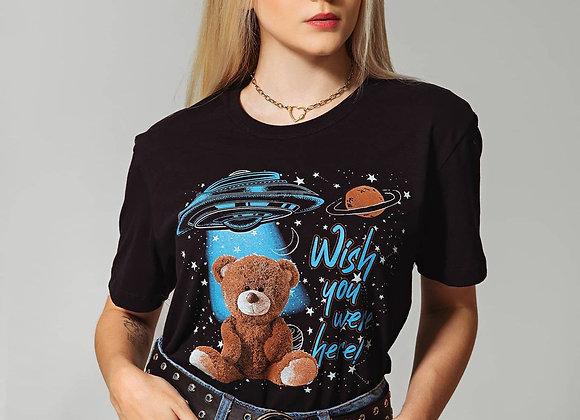 T-SHIRT PRETA  SPACE BEAR