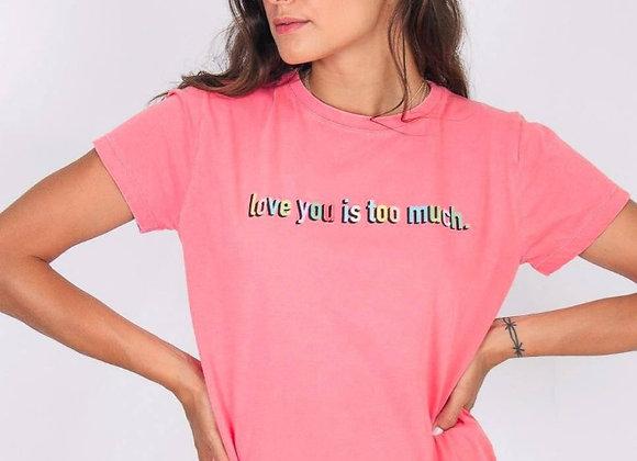 T-Shirt M&G Boyfriend Rosa Neon