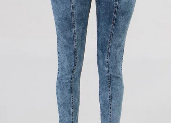 Calça jeans Cigarrete Marmorizada