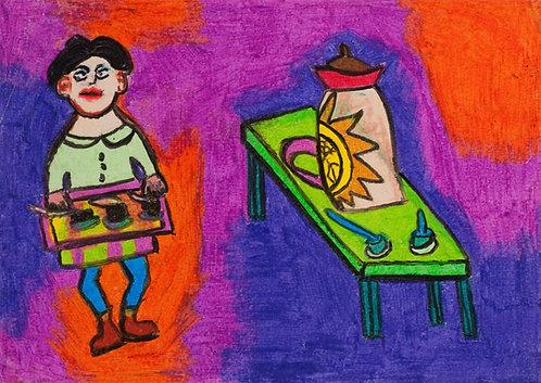 Person, Table, Jug : Daniel Phillips