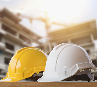 yellow-white-helmet-safety-construction-