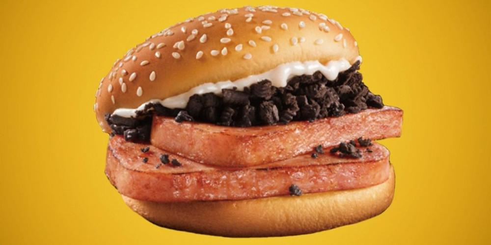 Mcdonalds oreo spam burger