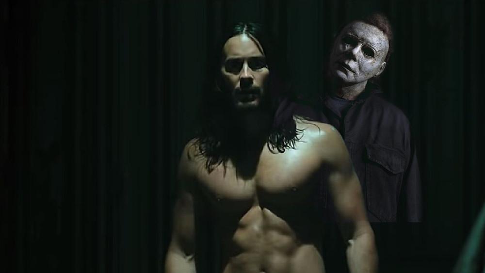 Halloween Kills Michael Myers stand behind Morbius