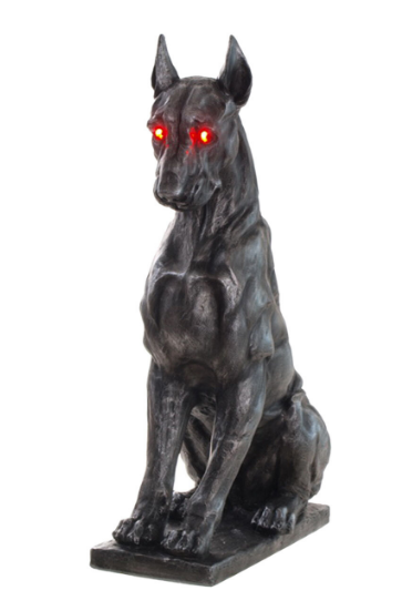 creepy dog halloween decoration