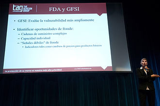 TAG SME Anabelle presenting on GFSI and