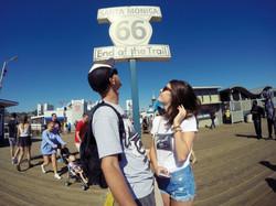 Justyna i Patryk na Santa Monica Pier