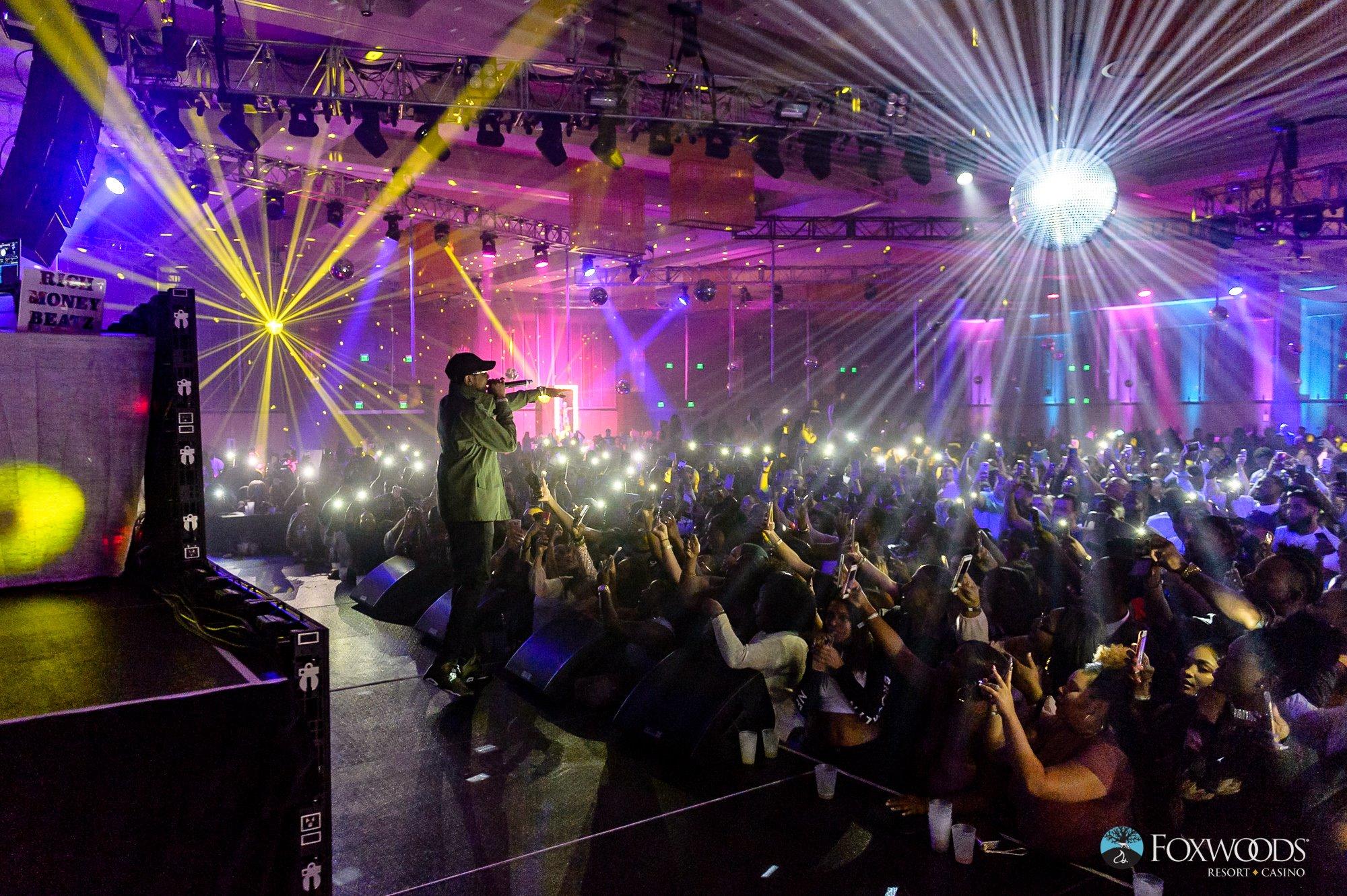 Foxwoods rap concert work and travel IECenter
