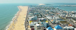 Ocean City from above Work and Travel IE