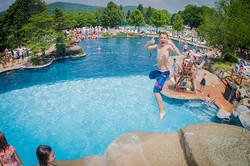 Crystal Resort Jumping into the pool2