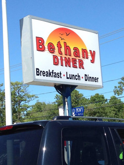 Bethany Diner sign Work and Travel IECenter