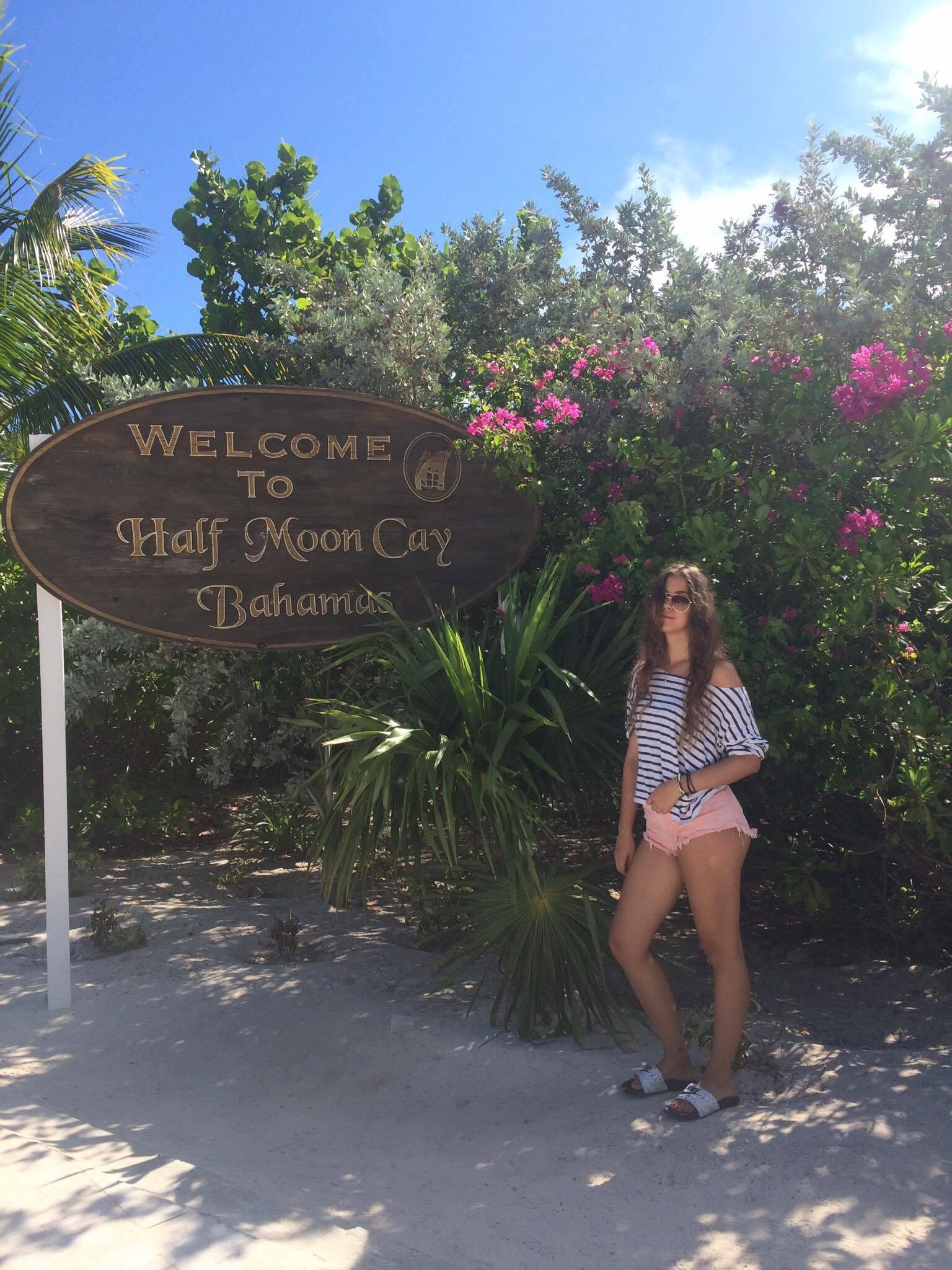 Karina na Bahamach