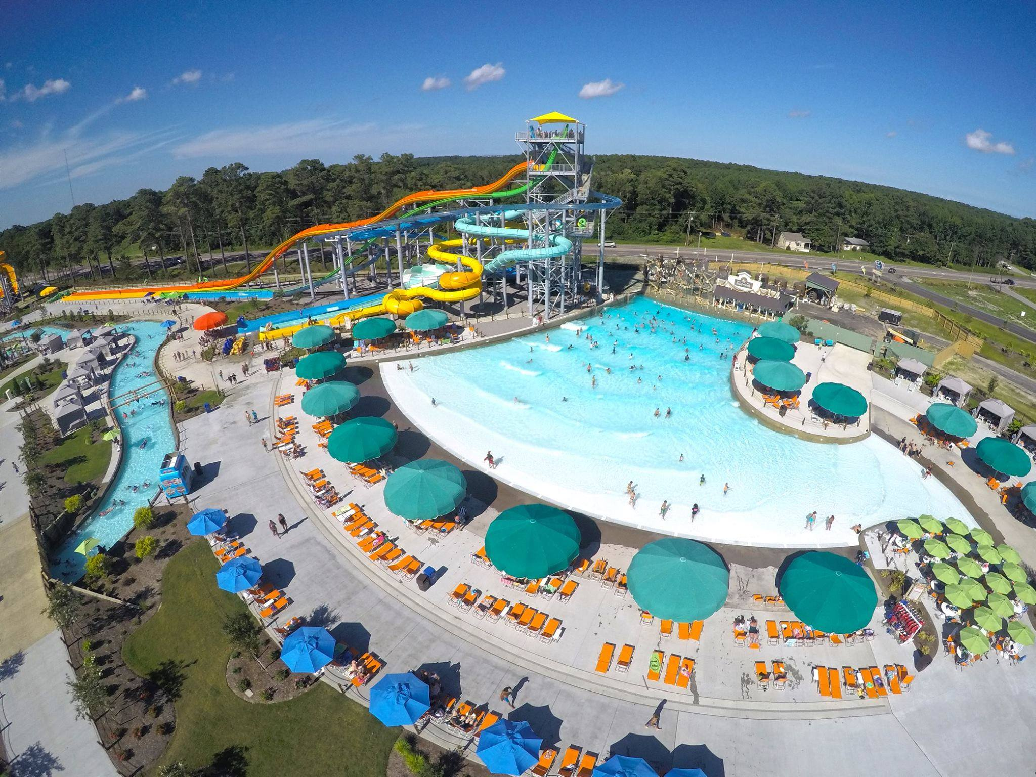 H2 OBX Waterpark drone view Work and Travel IECenter