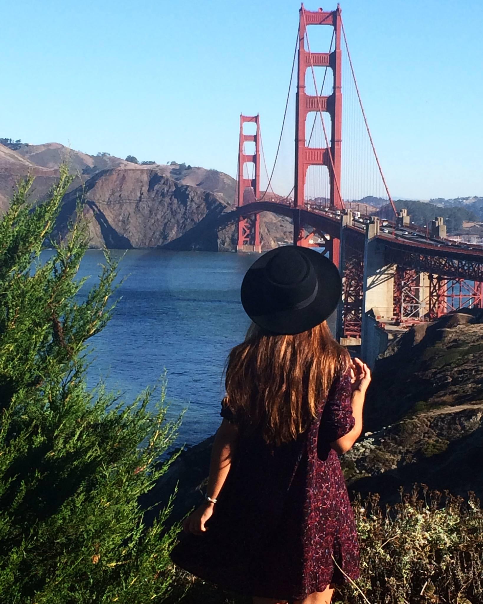 Julia przy Golden Gate Bridge