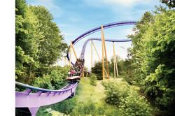 Busch Gardens Roller Coaster Work and Tr