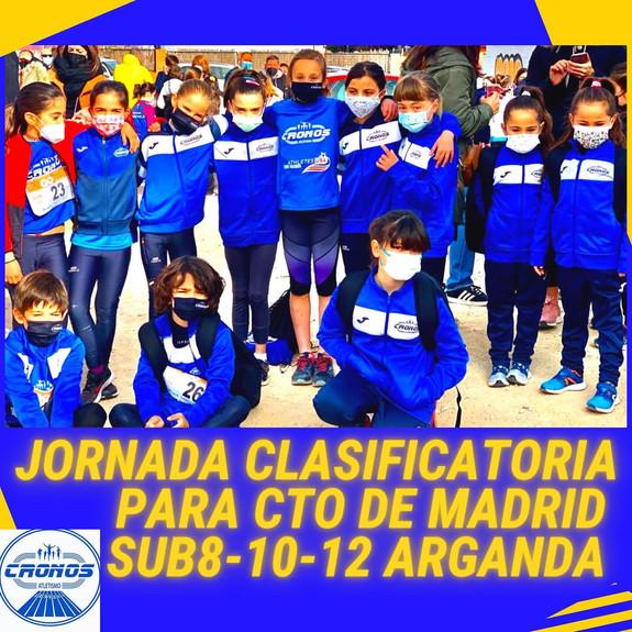 1ª JORNADA CLASIFICATORIA CTO DE MADRID SUB 8-10-12