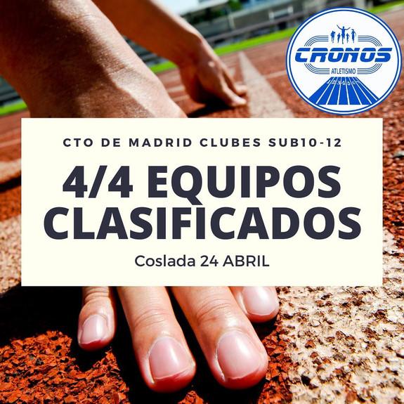 4/4 EQUIPOS CLASIFICADOS