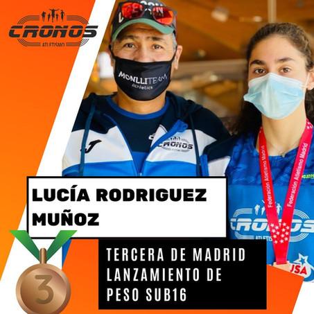 LUCIA RODRÍGUEZ BRONCE EN LANZ. DE PESO