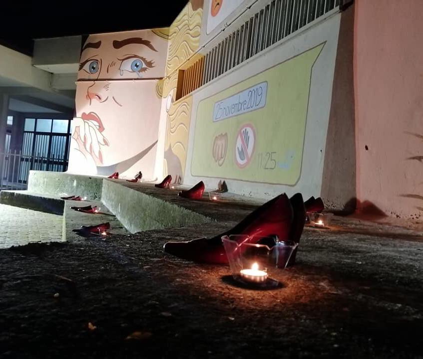 Il murales contro la violenza