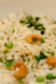 Biryani with Cashews and peas