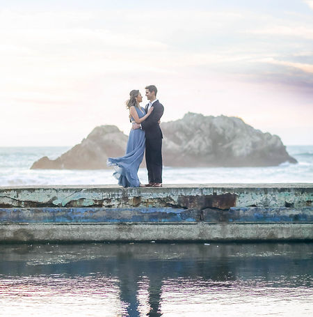 San Francisco Sutro Baths Engagement Pho