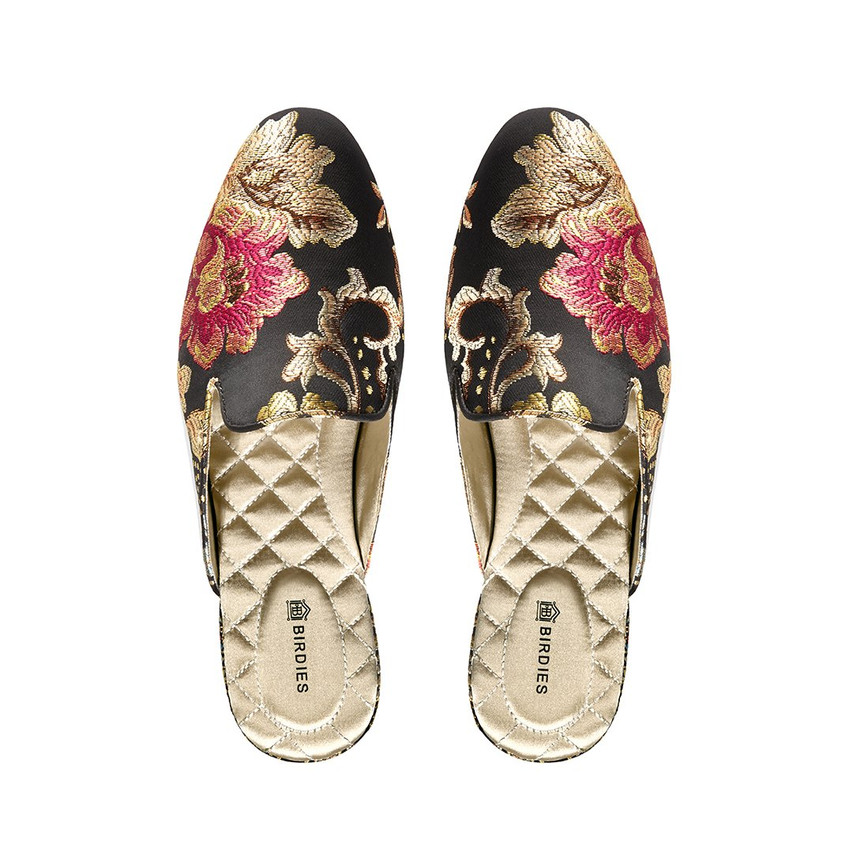 Fall Slides Mule Shoes Jacquard