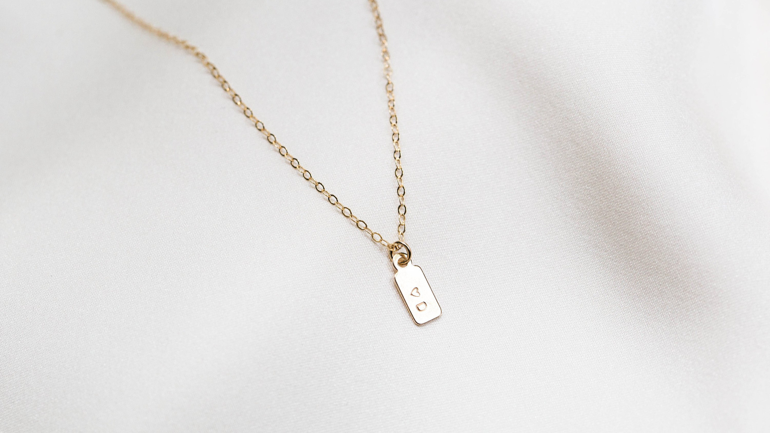 Gold Personalized Necklace from Simple Dainty Jewelry