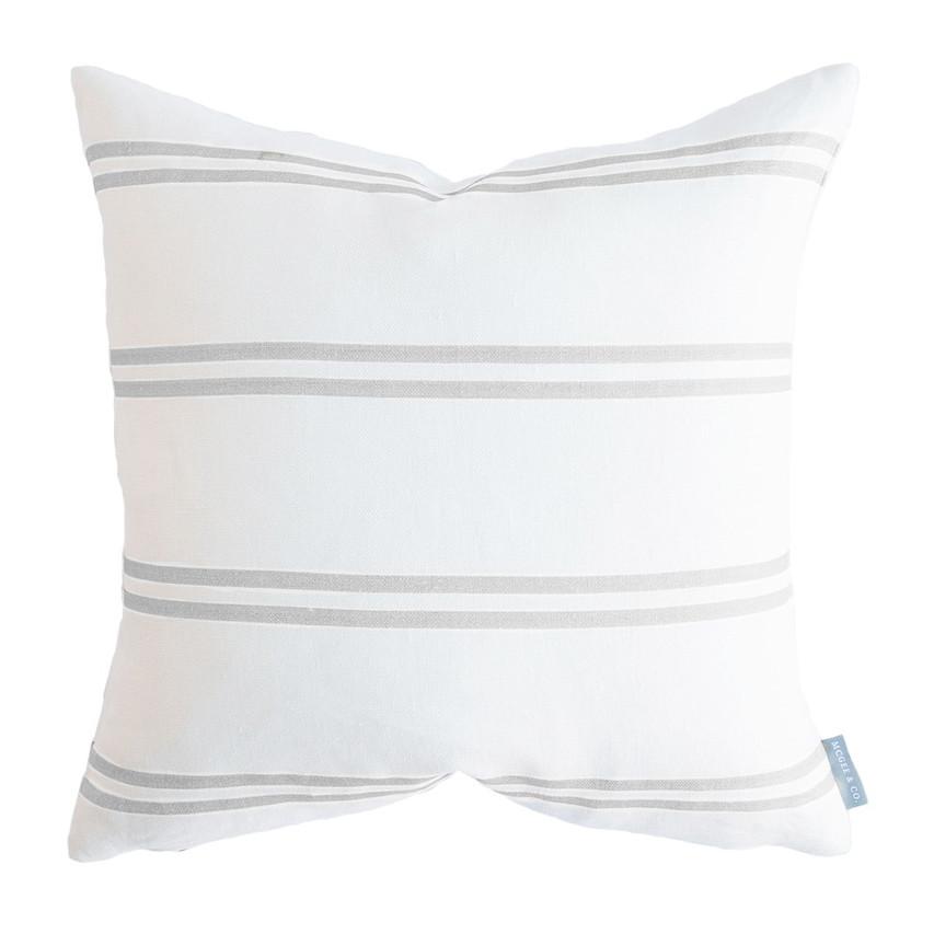 Grey and White Stripe Pillow Home Decor