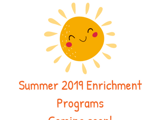 Summer 2019 Enrichment Classes