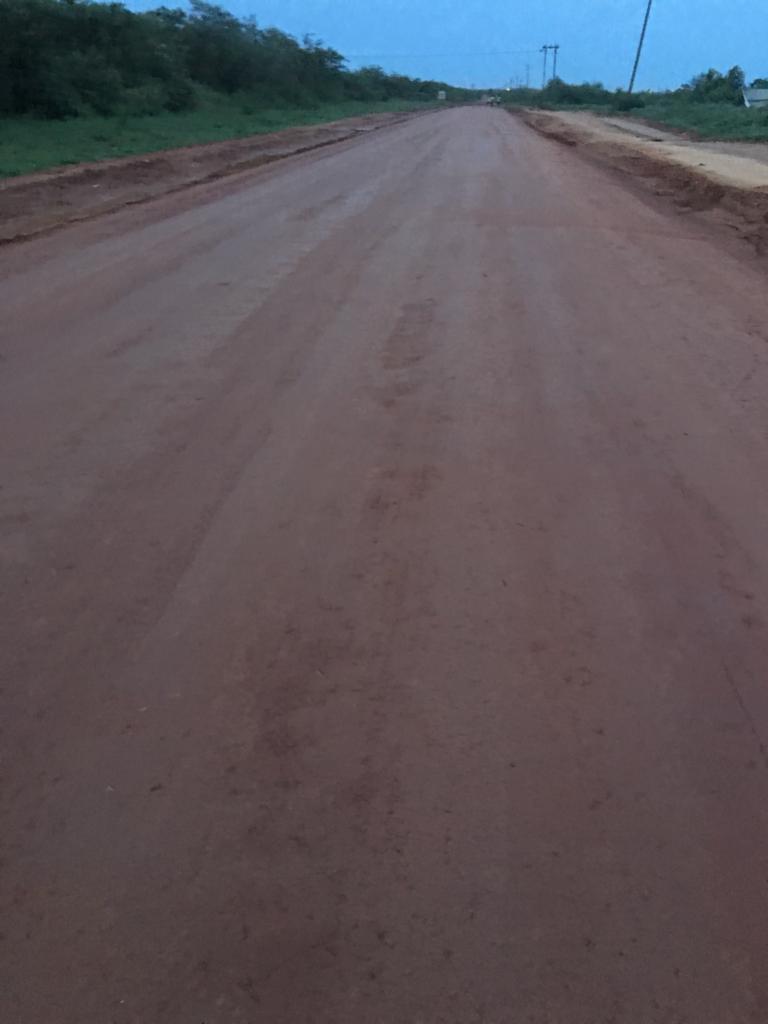 Pilot road in Ghana