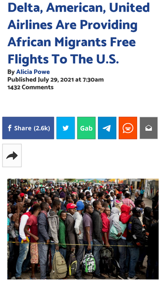 Delta, American, United Airlines Are Providing African Migrants Free Flights To The U.S.