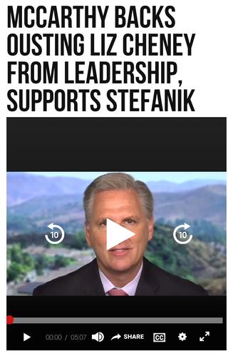 McCarthy Backs Ousting Liz Cheney from Leadership, Supports Stefanik