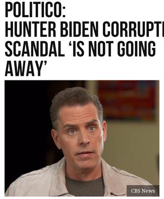 Politico: Hunter Biden Corruption Scandal 'Is Not Going Away'