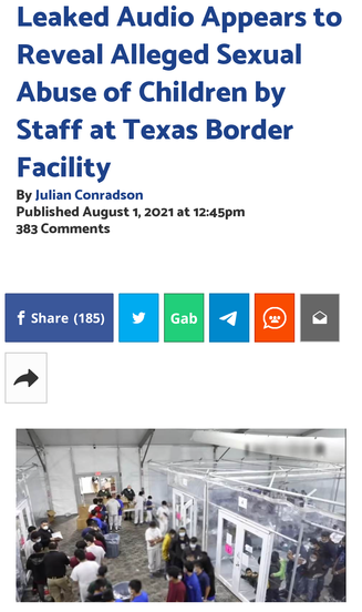 Leaked Audio Appears to Reveal Alleged Sexual Abuse of Children by Staff at Texas Border Facility