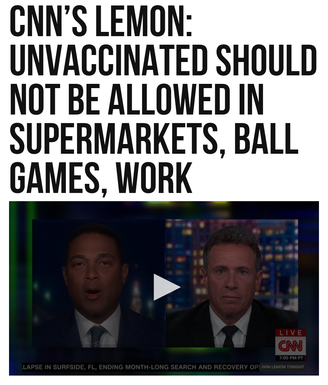CNN's Lemon: Unvaccinated Should Not Be Allowed in Supermarkets, Ball Games, Work