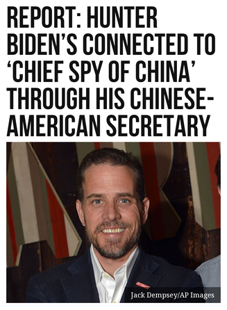Report: Hunter Biden's Connected to 'Chief Spy of China' Through His Chinese-American Secretary