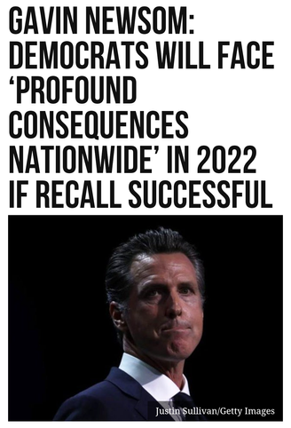 Gavin Newsom: Democrats will face 'Profound Consequences Nationwide' in 2022 if Recall Successful