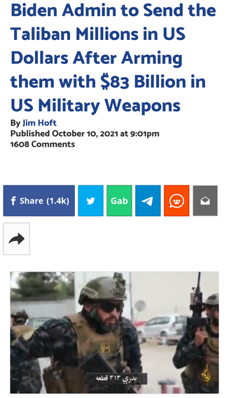 Biden Admin to Send the Taliban Millions in US Dollars After Arming them with $83 Billion