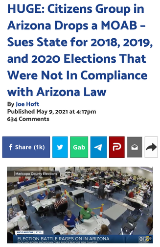 HUGE: Citizens Group in Arizona Drops a MOAB – Sues State for 2018, 2019, and 2020 Elections