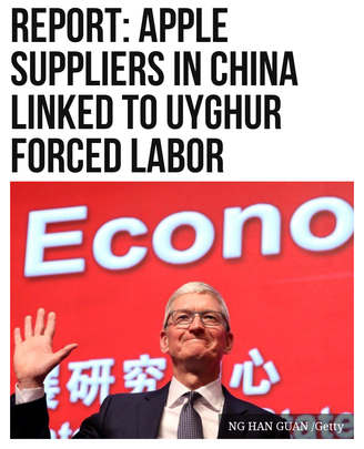 Report: Apple Suppliers in China Linked to Uyghur Forced Labor