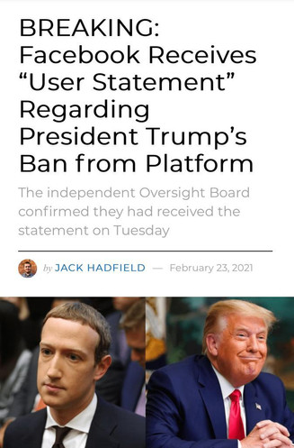 Trump issues a response to Facebook's Oversight Board