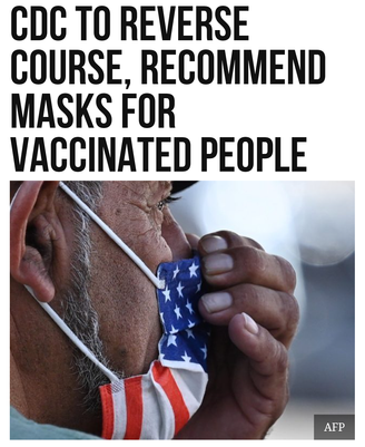 CDC to Reverse Course, Recommend Masks for Vaccinated People