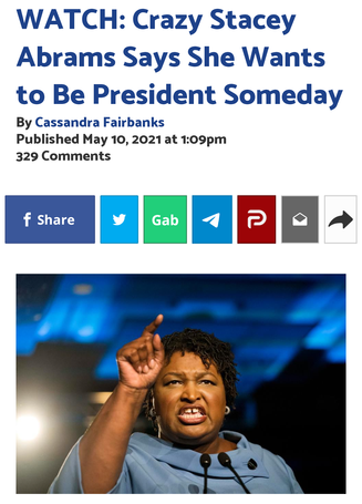 WATCH: Crazy Stacey Abrams Says She Wants to Be President Someday